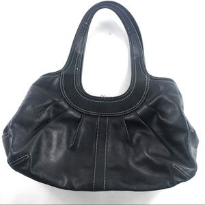 Coach Black Ergo Pleated Shoulder Bag Purse